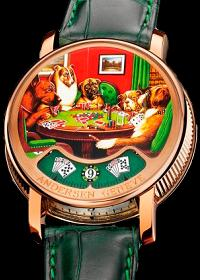 Montre A Tact Or Rose Poker