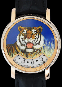 Montre A Tact Or Gris Tigre